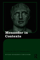 Menander in Contexts by Alan H. Sommerstein