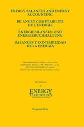 Energy Balances and Energy Accounting by Yong Zhou