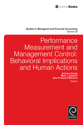 Performance Measurement and Management Control by Jean-Francois Manzoni