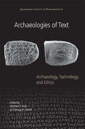 Archaeologies of Text by Matthew T. Rutz