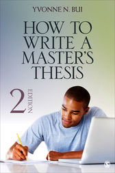 How to Write a Master's Thesis by Yvonne N. Bui