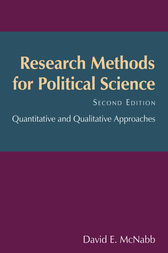 Research Methods for Political Science by David E McNabb