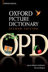Oxford Picture Dictionary Monolingual (American English) dictionary for teenage and adult students by Jayme Adelson-Goldstein