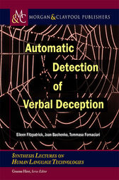 Automatic Detection of Verbal Deception by Eileen Fitzpatrick