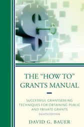 The How To Grants Manual by David G. Bauer