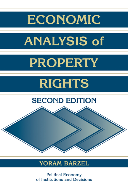 Download Ebook Economic Analysis of Property Rights (2nd ed.) by Yoram Barzel Pdf
