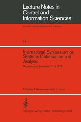 International Symposium on Systems Optimization and Analysis: Rocquencourt, December 11–13, 1978