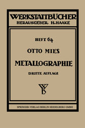 Metallographie by Otto Mies