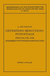 Oxydations-Reductions-Potentiale by Leonor Michaelis