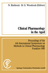 Clinical Pharmacology in the Aged / Klinische Pharmakologie im Alter by Rietbrock Norbert