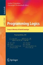 Programming Logics: Essays in Memory of Harald Ganzinger