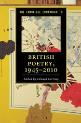 The Cambridge Companion to British Poetry, 1945–2010 by Edward Larrissy