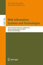 Web Information Systems and Technologies by Karl-Heinz Krempels