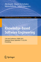 Knowledge-Based Software Engineering by Alla Kravets