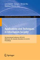 Applications and Techniques in Information Security by Lynn Batten