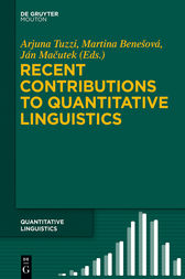 Recent Contributions to Quantitative Linguistics by Arjuna Tuzzi