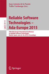 Reliable Software Technologies – Ada-Europe 2015 by Juan Antonio de la Puente