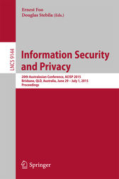 Information Security and Privacy by Ernest Foo