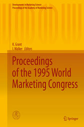 Proceedings of the 1995 World Marketing Congress by K. Grant
