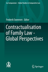Contractualisation of Family Law - Global Perspectives by Frederik Swennen