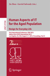 Human Aspects of IT for the Aged Population. Design for Everyday Life by Jia Zhou