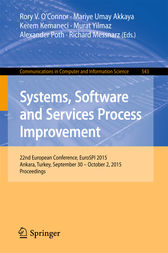 Systems, Software and Services Process Improvement by Rory V. O'Connor