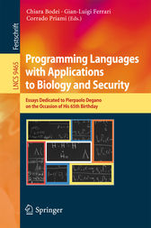 Programming Languages with Applications to Biology and Security by Chiara Bodei