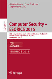 Computer Security -- ESORICS 2015 by Günther Pernul