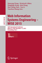 Web Information Systems Engineering – WISE 2015 by Jianyong Wang
