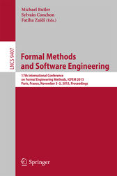 Formal Methods and Software Engineering by Michael Butler