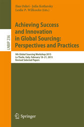 Achieving Success and Innovation in Global Sourcing: Perspectives and Practices by Ilan Oshri