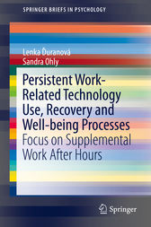 Persistent Work-related Technology Use, Recovery and Well-being Processes by Lenka Duranová