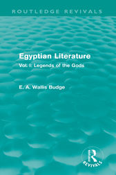Egyptian Literature (Routledge Revivals) by E.A. Wallis Budge