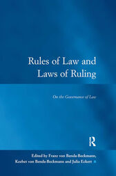 Rules of Law and Laws of Ruling: On the Governance of Law