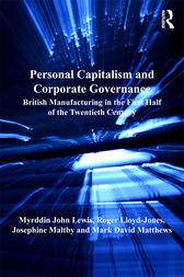 Personal Capitalism and Corporate Governance by Myrddin John Lewis