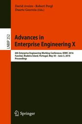 Advances in Enterprise Engineering X by David Aveiro