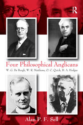 Four Philosophical Anglicans by Alan P.F. Sell