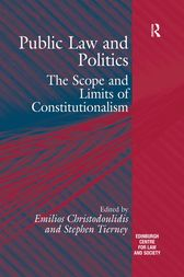 Public Law and Politics by Stephen Tierney