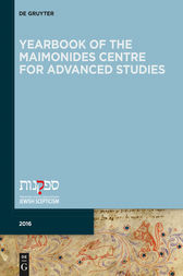 Yearbook of the Maimonides Centre for Advanced Studies. 2016 by Giuseppe Veltri