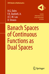 Banach Spaces of Continuous Functions as Dual Spaces by H. G. Dales