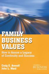 Family Business Values by C. Aronoff