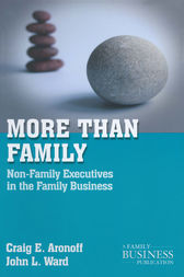 More than Family by C. Aronoff