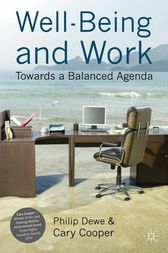 Well-Being and Work by P. Dewe