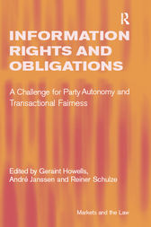Information Rights and Obligations by André Janssen