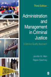 Administration and Management in Criminal Justice by Jennifer M. Allen
