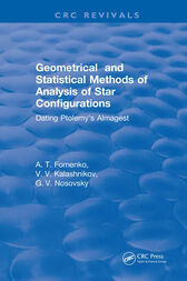 Geometrical and Statistical Methods of Analysis of Star Configurations Dating Ptolemy's Almagest by A.T. Fomenko