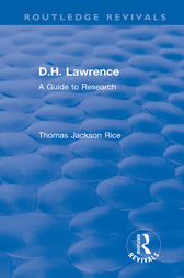 D.H. Lawrence by Thomas Jackson Rice