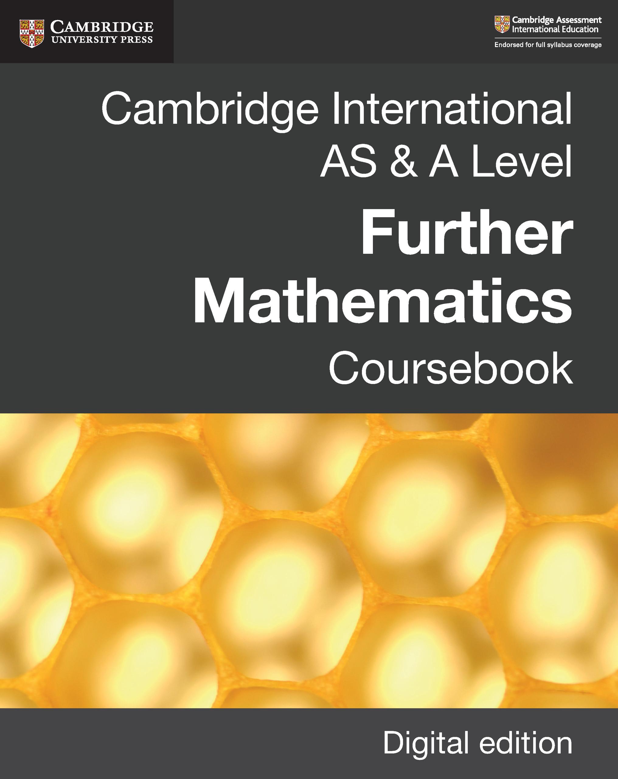 Cambridge International AS & A Level Further Mathematics Coursebook Digital Edition - 25-49.99