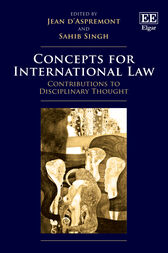 Concepts for International Law: Contributions to Disciplinary Thought